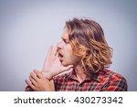 call someone. man | Shutterstock . vector #430273342