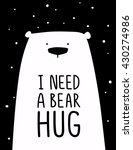 funny white polar bear with...   Shutterstock .eps vector #430274986