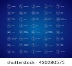 olympic sports vector icons.... | Shutterstock .eps vector #430280575