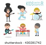 kids and music  children... | Shutterstock .eps vector #430281742