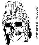 roman skull | Shutterstock .eps vector #4302841