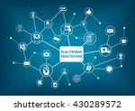 electronic healthcare... | Shutterstock .eps vector #430289572