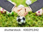 business ma hand shake with... | Shutterstock . vector #430291342