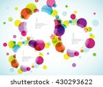 random colorful bubbles with... | Shutterstock .eps vector #430293622
