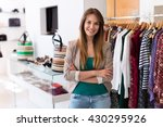 sales assistant in clothing... | Shutterstock . vector #430295926