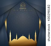 eid mubarak islamic design... | Shutterstock .eps vector #430298182