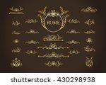 vector set of italian... | Shutterstock .eps vector #430298938