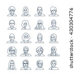 modern thin line icons set of... | Shutterstock .eps vector #430304776