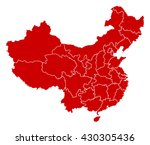 map   china   Shutterstock .eps vector #430305436