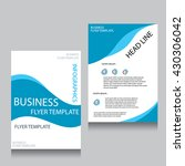 vector brochure flyer design... | Shutterstock .eps vector #430306042