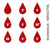 flat design vector blood types... | Shutterstock .eps vector #430311706