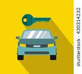 safety location car icon. flat...