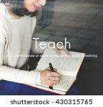 teach teaching education...   Shutterstock . vector #430315765