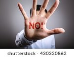 man open the hand with the text ... | Shutterstock . vector #430320862