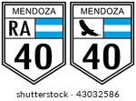 route 40 of mendoza county road ... | Shutterstock . vector #43032586