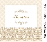vintage invitation template... | Shutterstock . vector #430327306