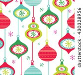 seamless christmas decoration... | Shutterstock .eps vector #430328956