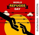 world refugee day campaign... | Shutterstock .eps vector #430333546