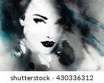 beautiful woman face. abstract... | Shutterstock . vector #430336312