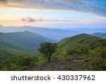 Small photo of Blue Ridge Mountain vista background from area near Craggy Gardens, north of Asheville, North Carolina.