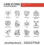 set of modern vector simple... | Shutterstock .eps vector #430337968