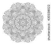 mandala zentangl. doodle... | Shutterstock . vector #430338022