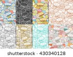 food seamless pattern set.... | Shutterstock .eps vector #430340128