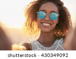 portrait of a smiling woman... | Shutterstock . vector #430349092