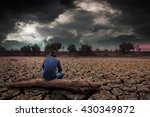 man sitting on timber on land... | Shutterstock . vector #430349872