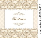 vintage invitation template... | Shutterstock . vector #430356115