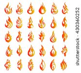 thirty flame icons   Shutterstock .eps vector #430360252