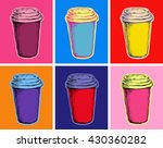 set coffee cups vector...