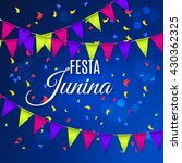 festa junina party greeting... | Shutterstock .eps vector #430362325