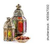 oriental light lantern on white ... | Shutterstock . vector #430367332