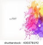 fantasy  vector background with ... | Shutterstock .eps vector #430378192