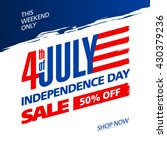 fourth of july usa independence ... | Shutterstock .eps vector #430379236