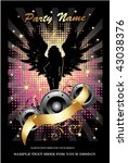 party flyer | Shutterstock .eps vector #43038376