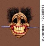 Horror Smile Face  Cartoon...
