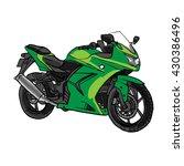 vector cartoon motobike. eps 10 ... | Shutterstock .eps vector #430386496