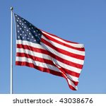 Photo Of American Flag Waving...