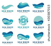 sea wave logo. vector concept  | Shutterstock .eps vector #430387015