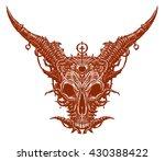 satan goat head. white... | Shutterstock . vector #430388422