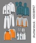 design of active wear | Shutterstock .eps vector #43038907