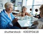 seniors talking   Shutterstock . vector #430393618