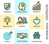 company core values outline... | Shutterstock .eps vector #430396156