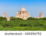 umaid bhawan palace in jodhpur  ... | Shutterstock . vector #430396792