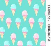 ice cream  vector  seamless... | Shutterstock .eps vector #430400956