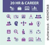 human resources  career icons  | Shutterstock .eps vector #430409368