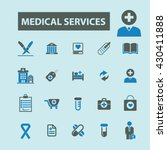 medical services icons  | Shutterstock .eps vector #430411888