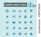 cards and cash icons  | Shutterstock .eps vector #430413856